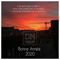 DM Architecture vous présente ses voeux pour cette nouvelle année 2020.