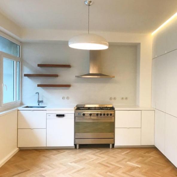 Rénovation chic et contemporaine d'un appartement de 90m2  à Paris 15ème