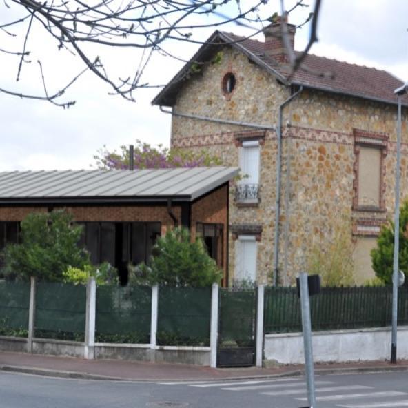 Extension en structure Métallique et brique en île-de-France